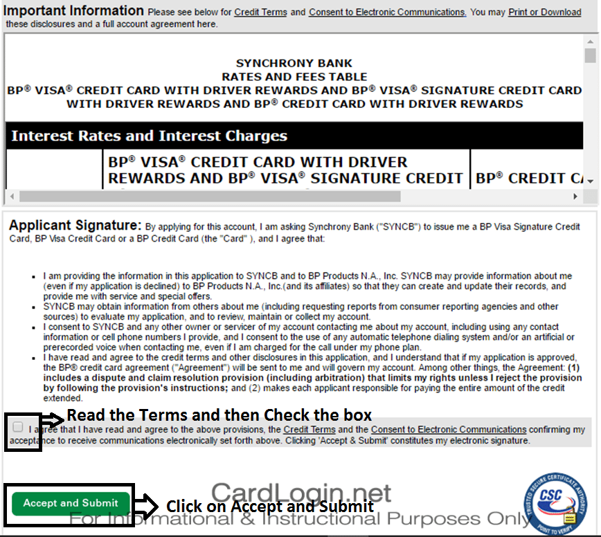 Apply BP Visa Credit Card Online