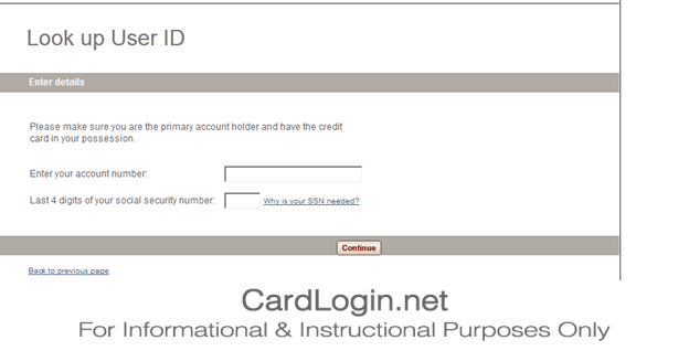 Gap Credit Card Lookup UserID
