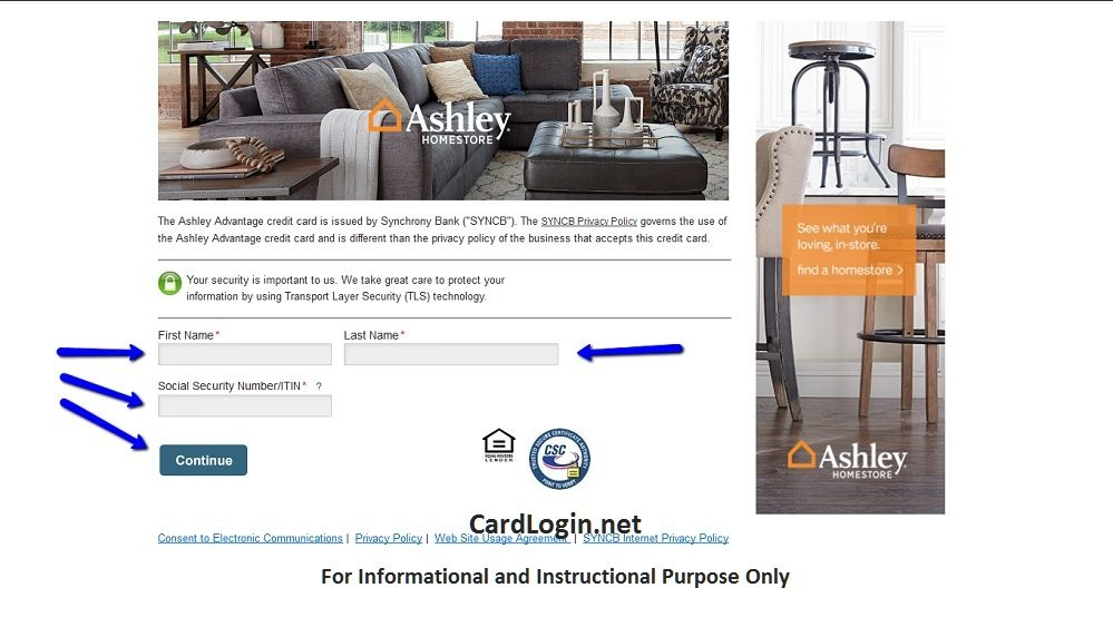 Ashley Furniture Credit Card Login 91 Ashley Furniture Homestore Credit Card Login Ashley
