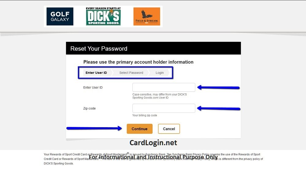 Dick's_Sporting_Goods_Credit_Card_Reset_Password