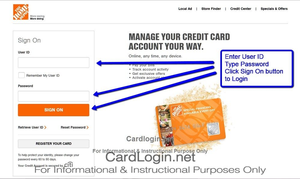 Home Depot Bill Pay. Home Depot Card Log In Home Design ...