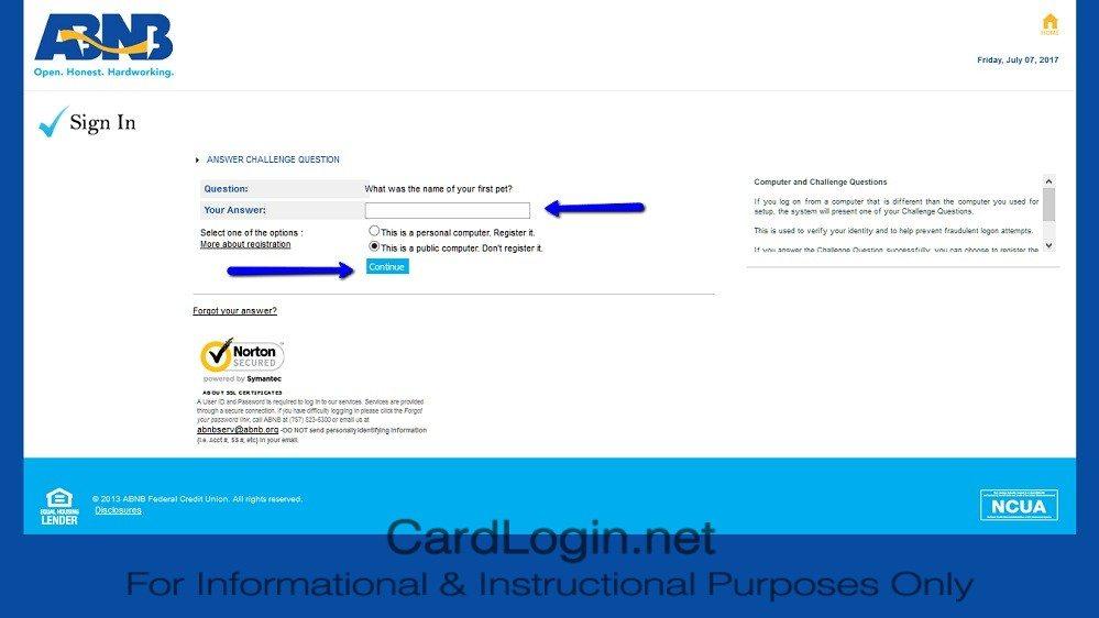 ABNB_MasterCard_Platinum_Credit_Card_Login_Step_2