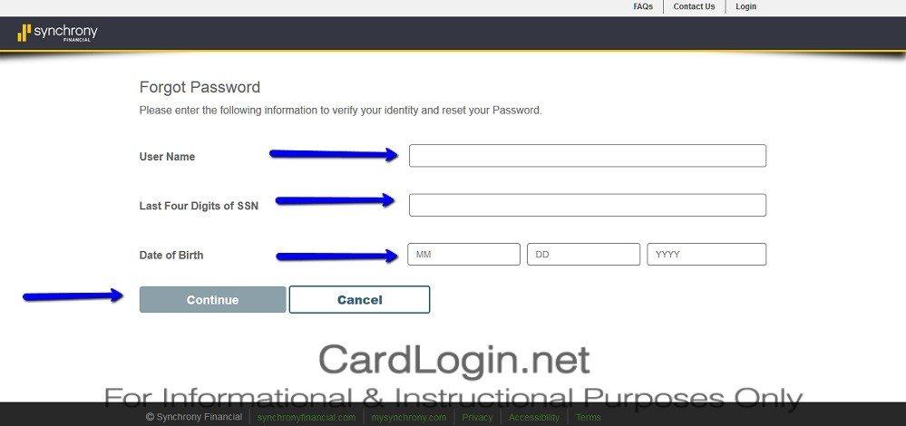 American_Signature_Furniture_Credit_Card_Reset_Password