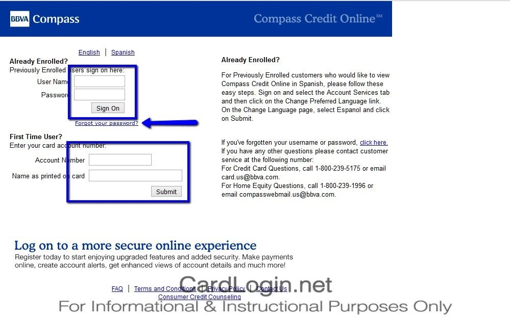 BBVA_Compass_Select_Credit_Card_Login