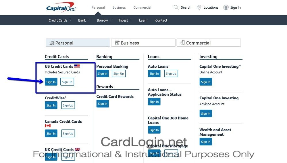 Capital_One_Venture_Rewards_Credit_Card_Login_Step_1