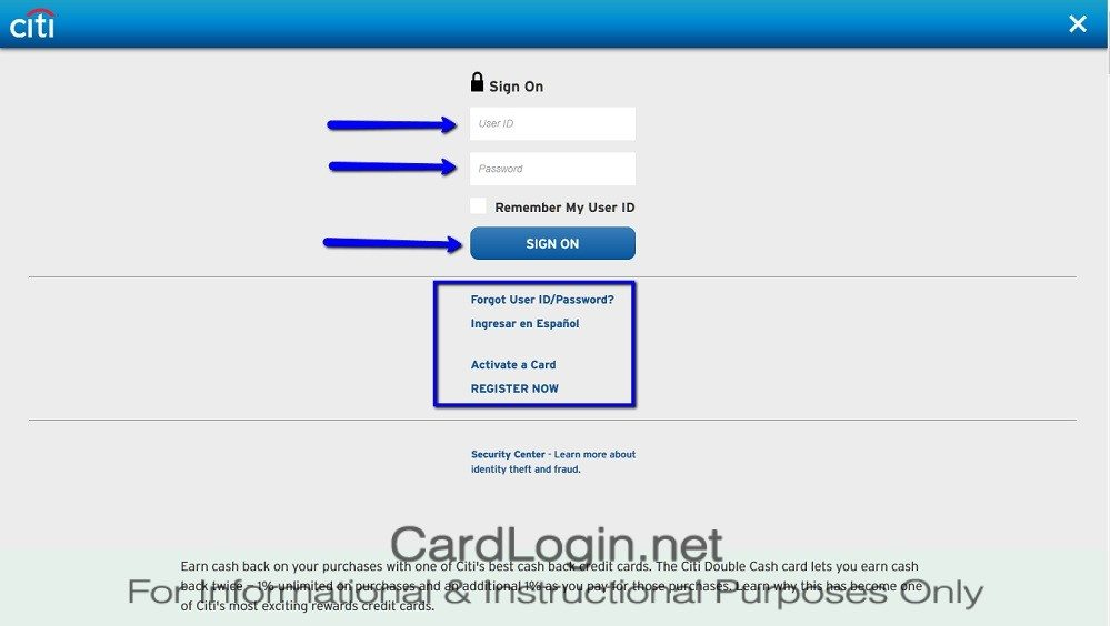 Citi ThankYou® Premier Card Login