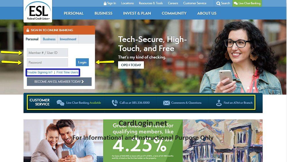 ESL_Federal_Credit_Union_Visa_Credit_Card_Login