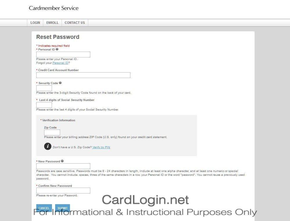 Forgot Your Comerica Visa® Bonus Rewards Card User ID Or Password Step 2