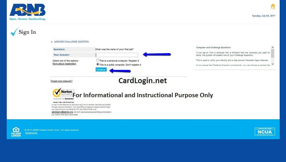 Forgot your ABNB Visa Platinum Rewards Credit Card User ID or Password