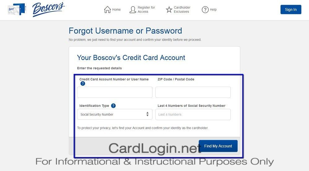 Forgot_Your_Boscov's_Credit_Card_User_ID_Or_Password