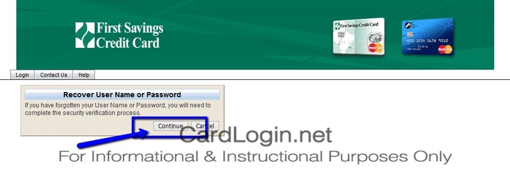 Forgot_Your_First_Savings_Credit_Card_User_ID_Or_Password_Step_1