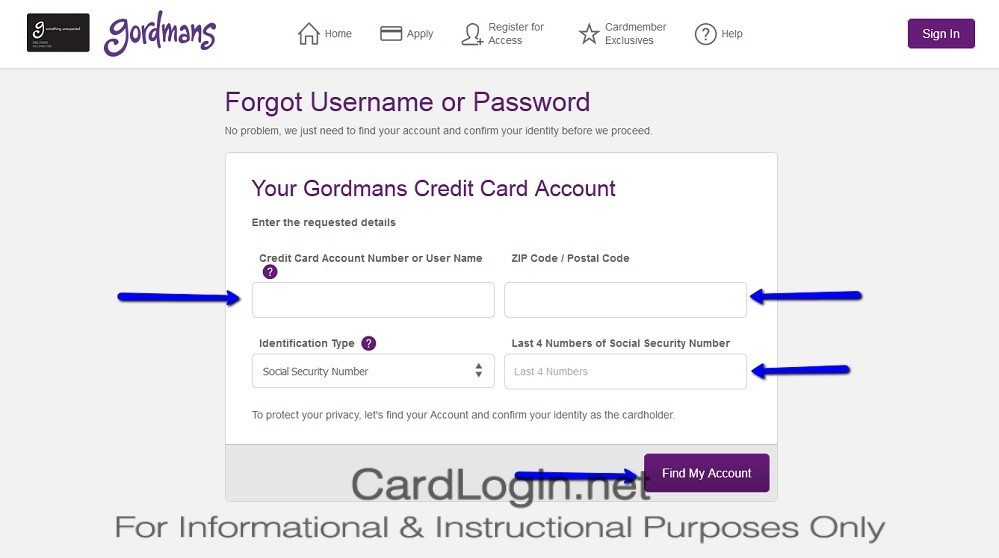 Forgot_Your_Gordmans_Credit_Card_User_ID_Or_Password