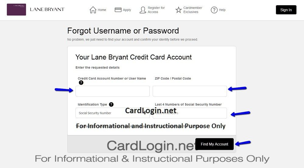 Forgot_Your_Lane_Bryant_Credit_Card_User_ID_Or_Password