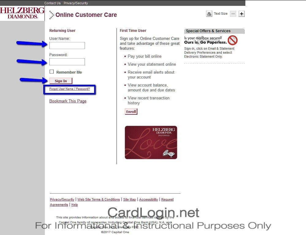 Helzberg_Diamonds_Credit_Card_Login