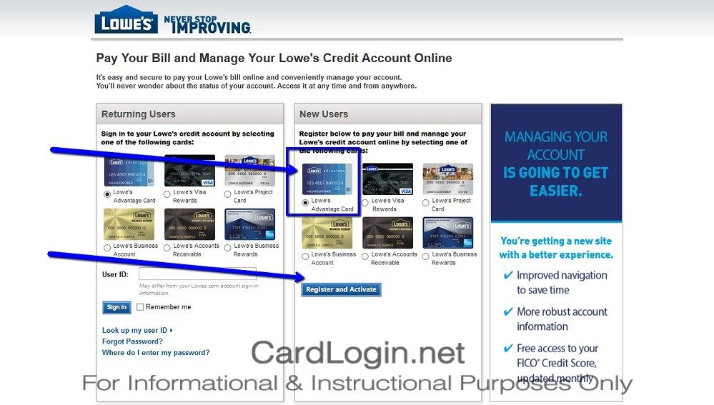 How_To_Activate_Lowe's_Advantage_Credit_Card