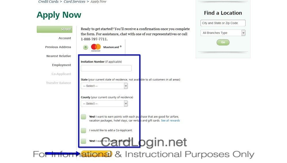 How_To_Apply_For_BancorpSouth_Standard_MasterCard®_Credit_Card_Step_1