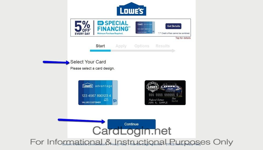 How_To_Apply_For_Lowe's_Advantage_Credit_Card_Step_1