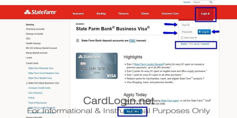 State farm bank business visa how to login how to apply guide statefarmbankbusinessvisacreditcardlogin colourmoves