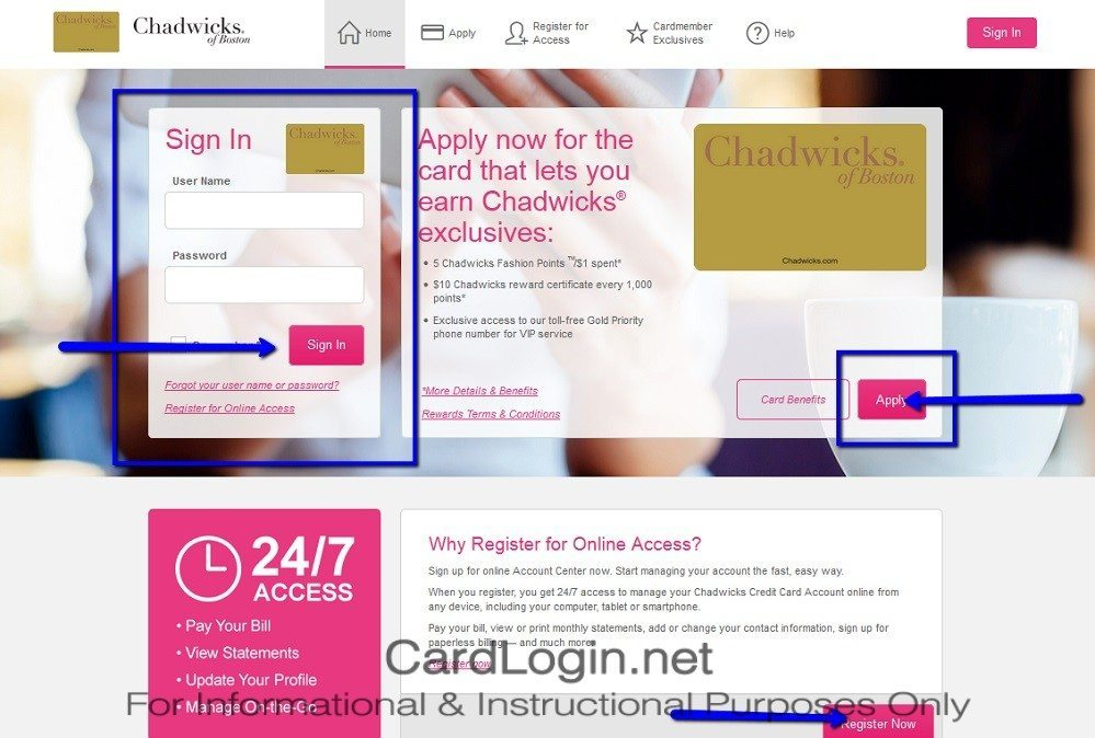 Chadwicks_Credit_Card_Login