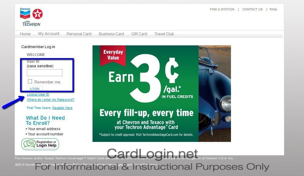 Texaco Techron Advantage™ Premium Gold Credit Card Login and How ...